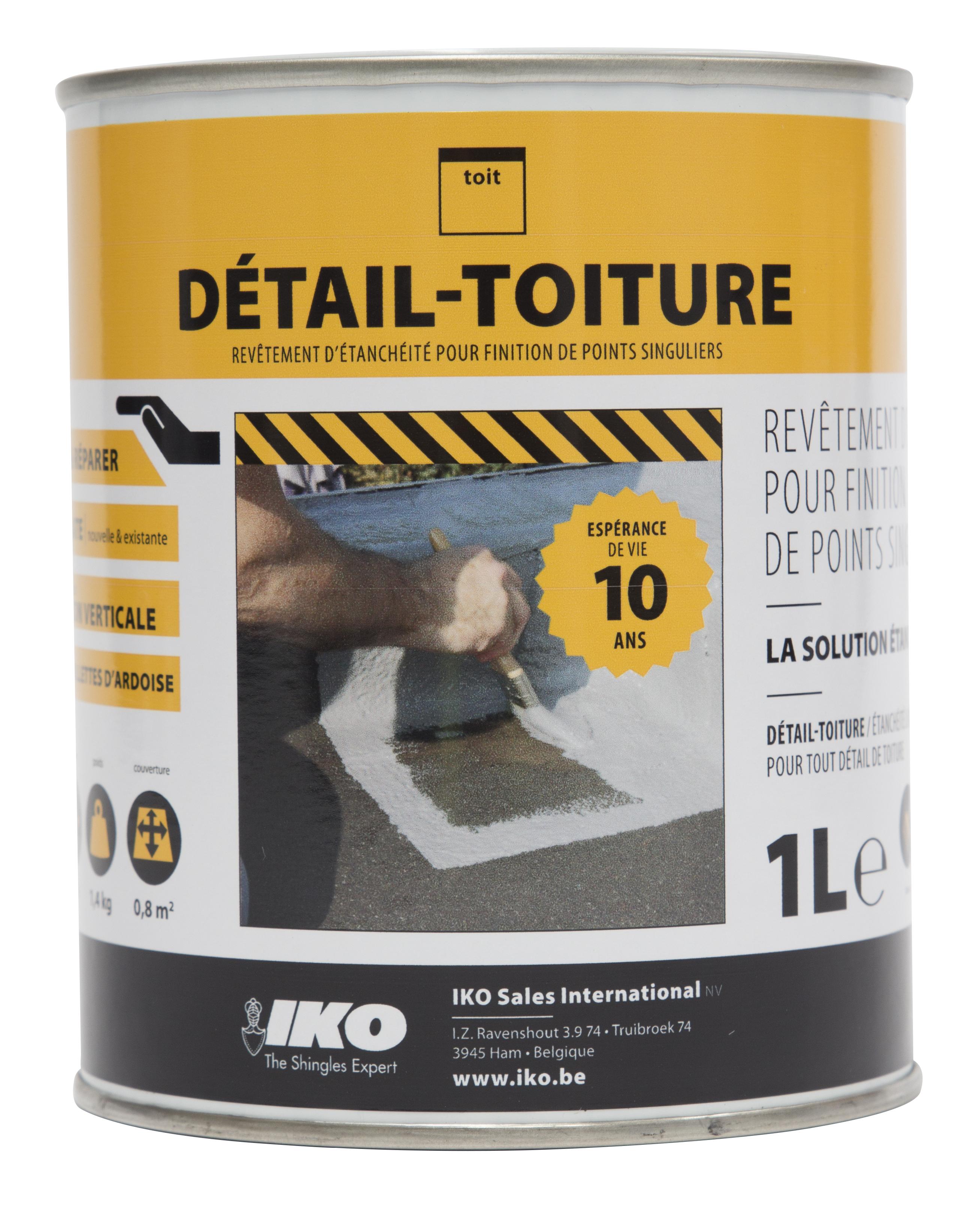 Enduit bitumeux Détail-Toiture Easy-Protect gris – 1L