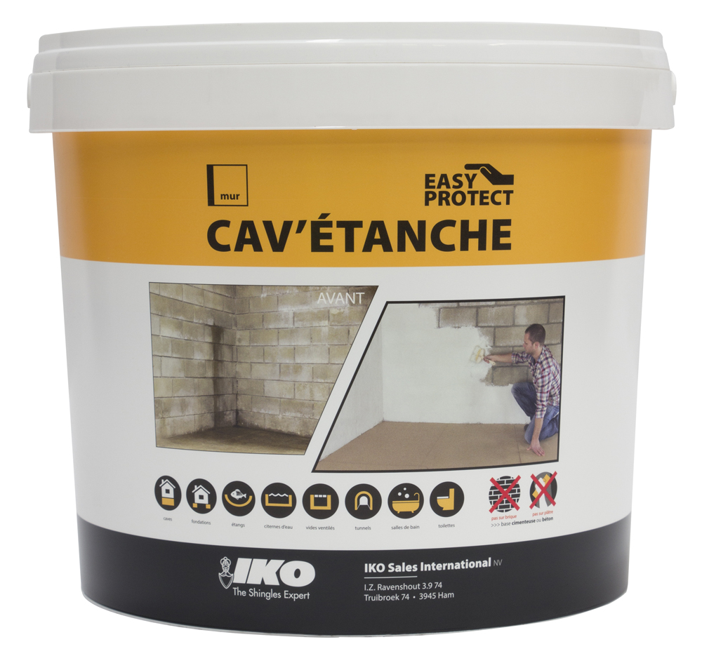 Enduit ciment pour cave blanc – IKO Cav'étanche