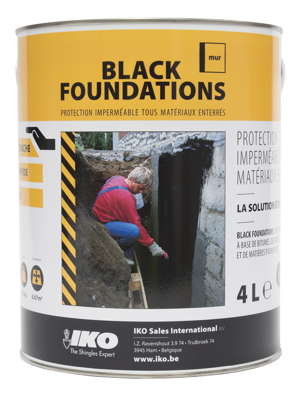 Enduit de fondation noir